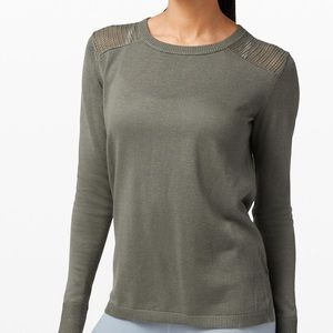 Lululemon Back to Balance long sleeve sweater